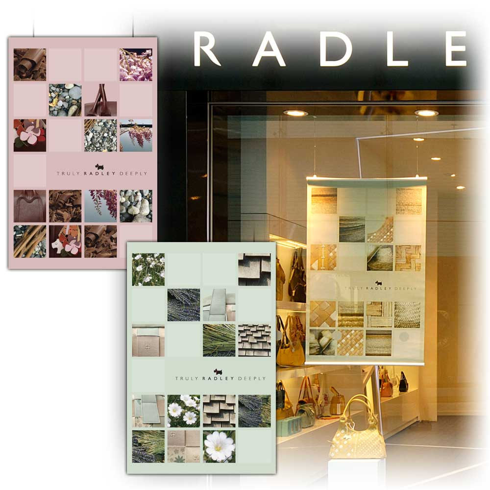 Radley shop POS graphics